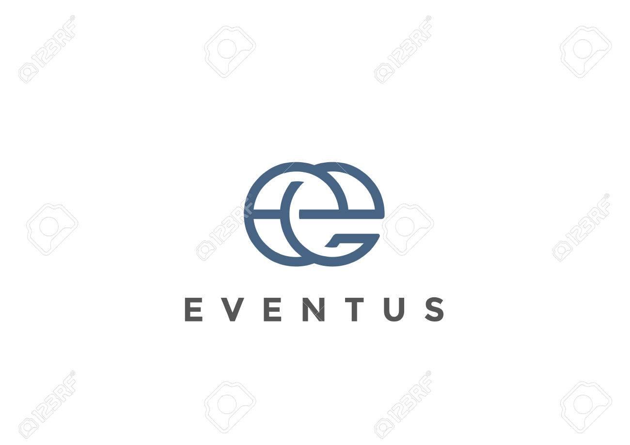 Letter E Logo Monogram design vector template Linear style. Corporate Business Luxury Fashion Logotype concept symbol - 67961566