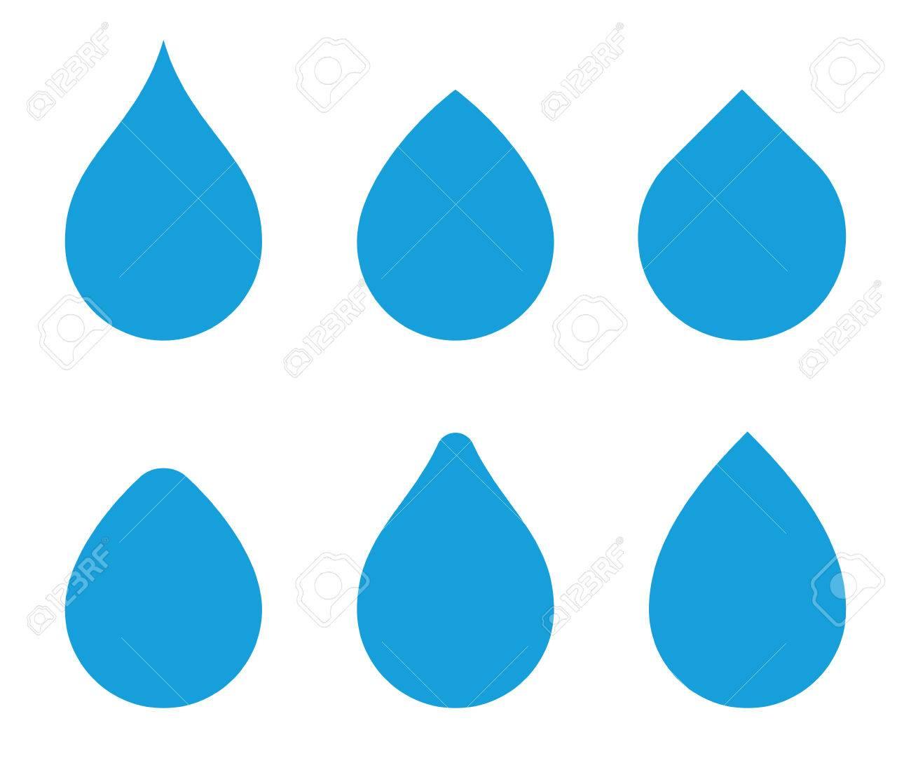 water drop vector shape set waterdrop icons aqua droplets rh 123rf com water drops vector png water drops vector free download