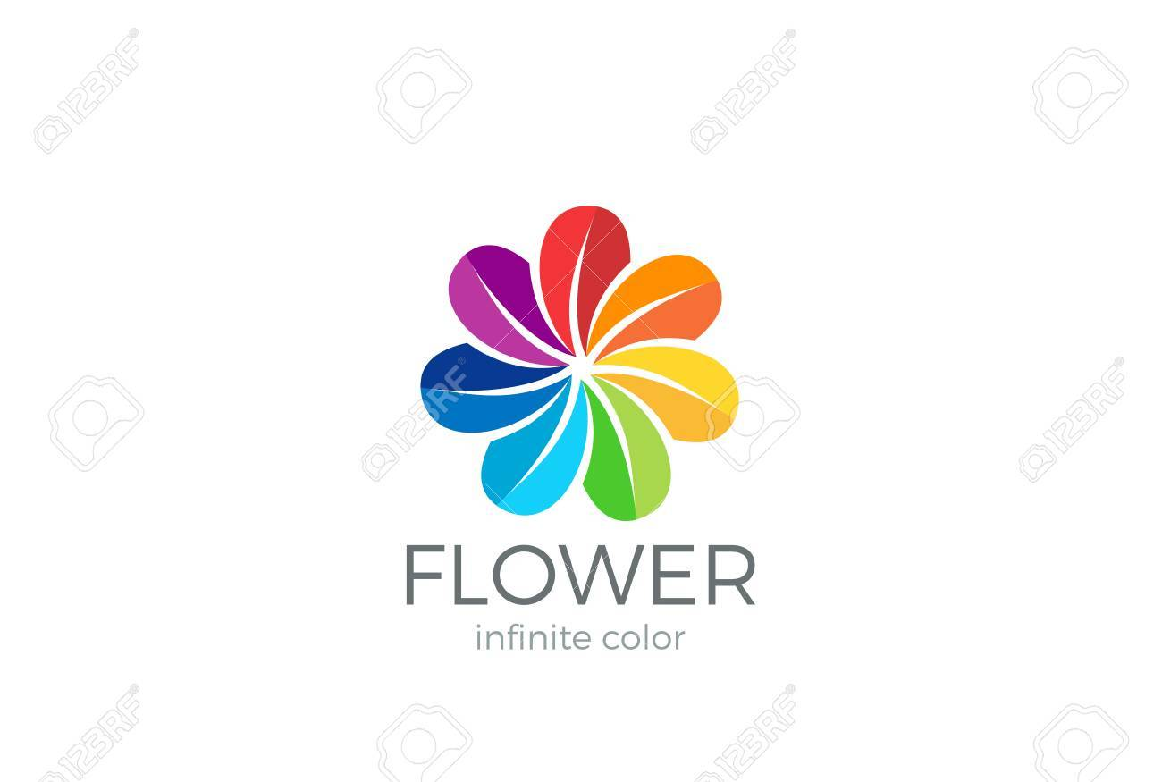 Colorful Flower Abstract Logo Loop Design Vector Template Team Royalty Free Cliparts Vectors And Stock Illustration Image 69426874