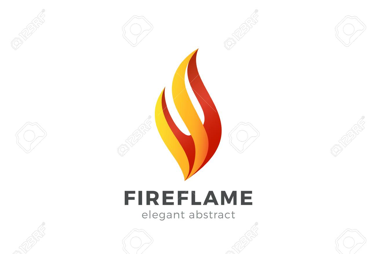 Fire Flame Logo Design Vector Template. Abstract Elegant Element ...