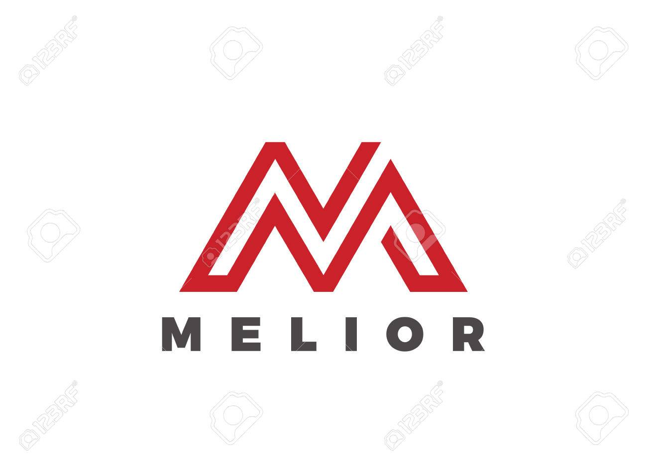 4f531d2f358 Letter M Logo Luxury design vector template Linear. Type Character Symbol  Logotype Stock Vector -