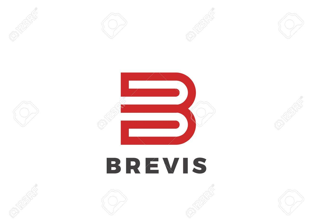 Letter b logo luxury design vector template linear type character letter b logo luxury design vector template linear type character symbol logotype stock vector buycottarizona Choice Image