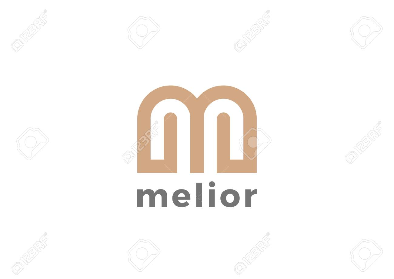 fb42a938736 Letter M Logo Luxury design vector template Linear. Type Character Symbol  Logotype. Stock Vector