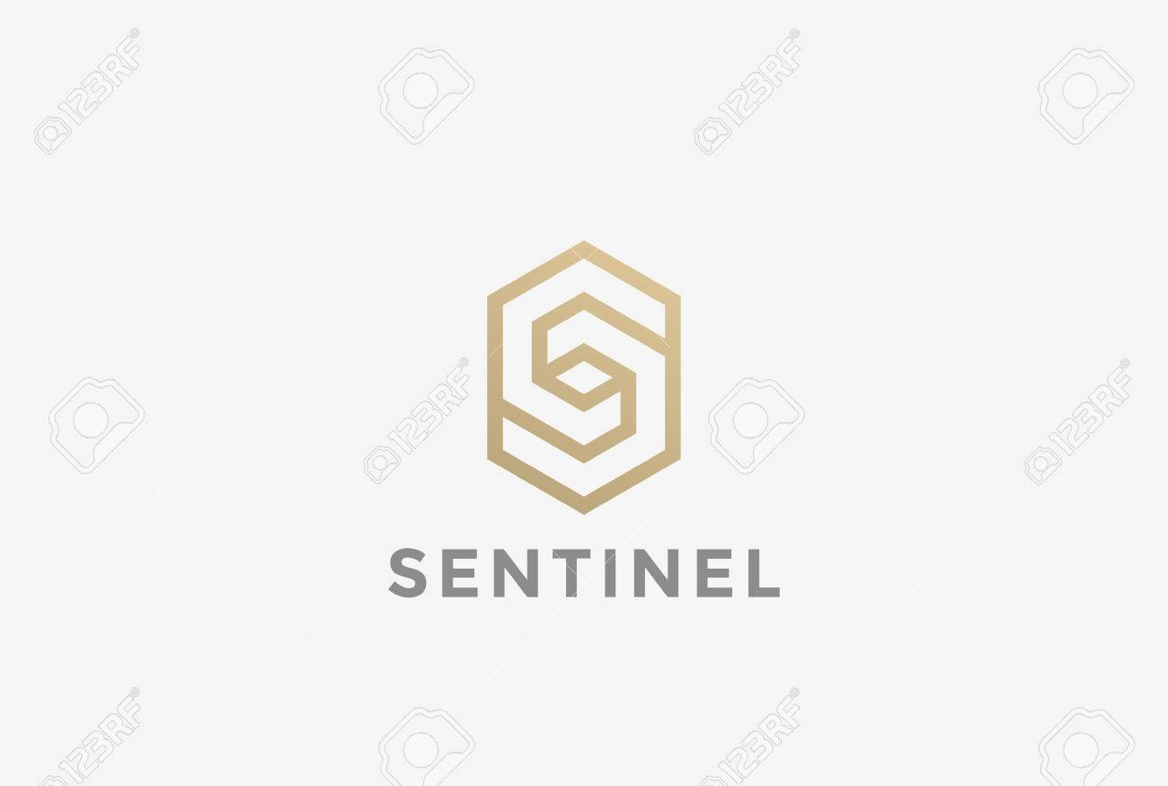 S letter Corporate Business geometric impossible abstract Logo design vector template Linear style. Hexagon looped infinity shape Logotype concept icon - 70451789