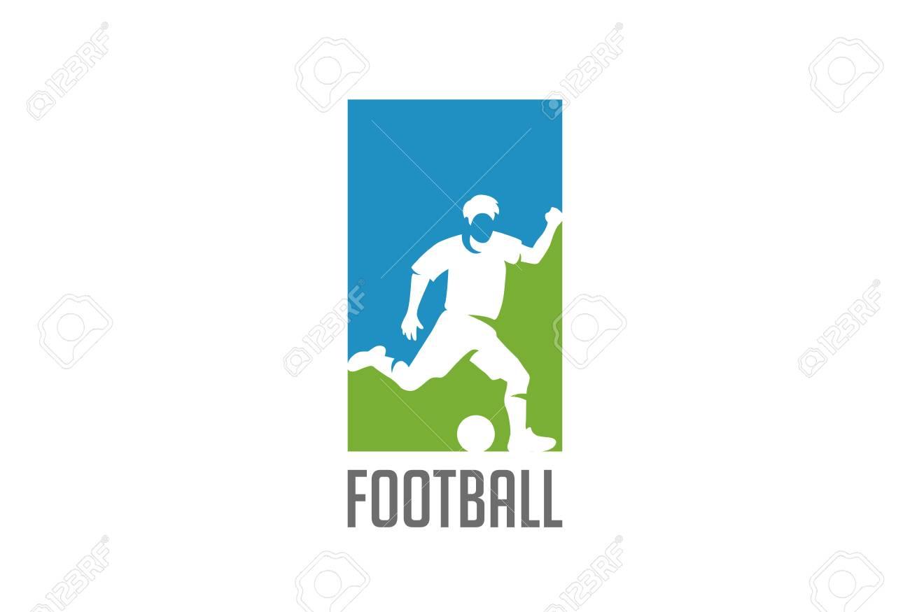 football player hit ball silhouette logo design vector template