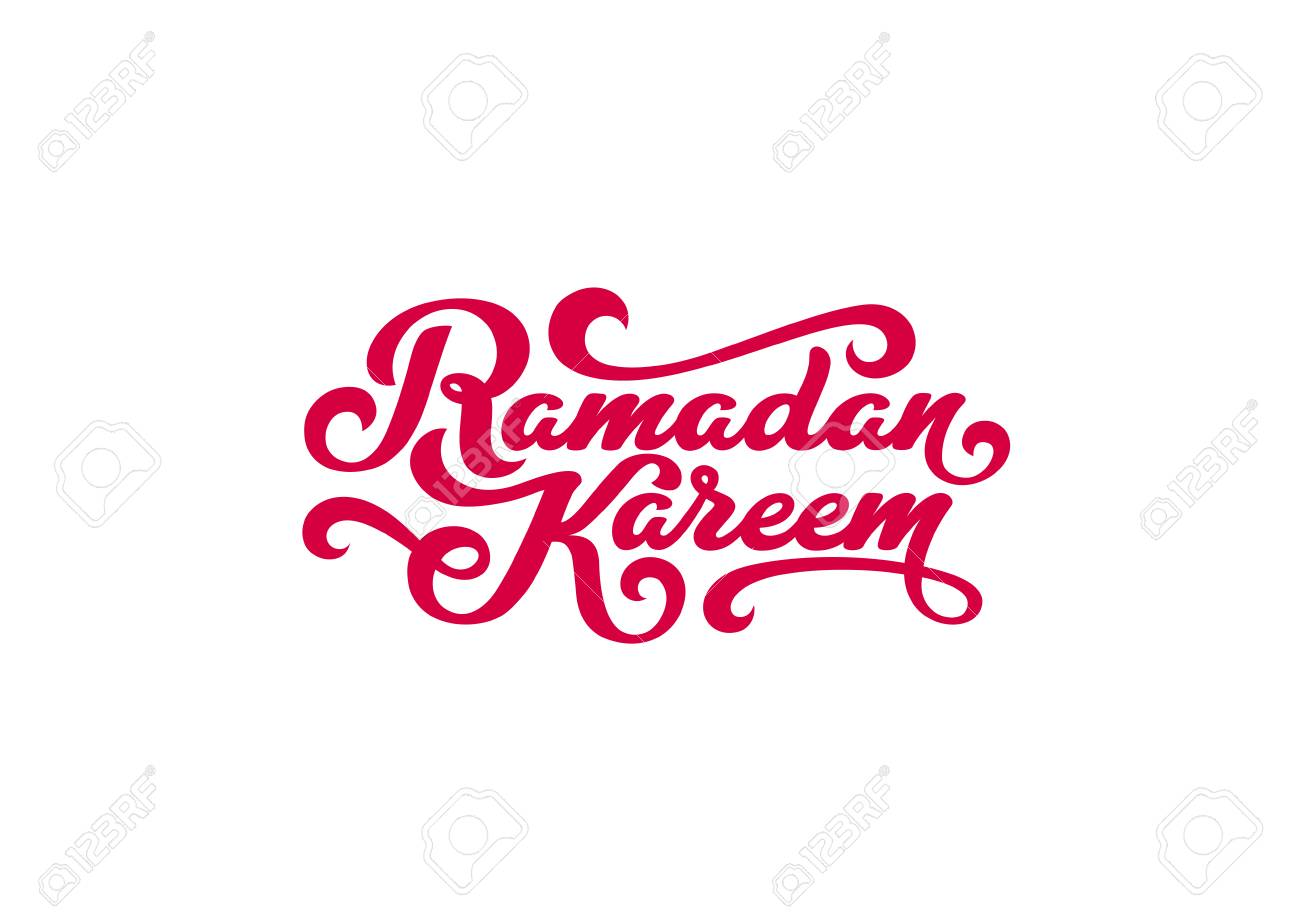 Ramadan kareem text vector lettering greeting card design template ramadan kareem text vector lettering greeting card design template vintage retro calligraphic typography poster stock m4hsunfo
