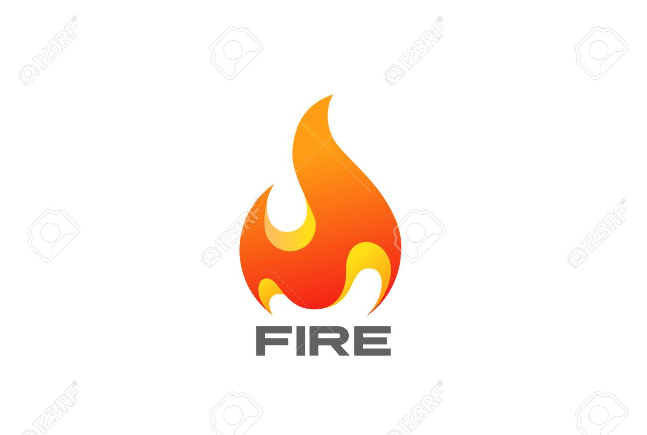 Fire Flame Design Template Royalty Free Cliparts, Vectors, And Stock ...