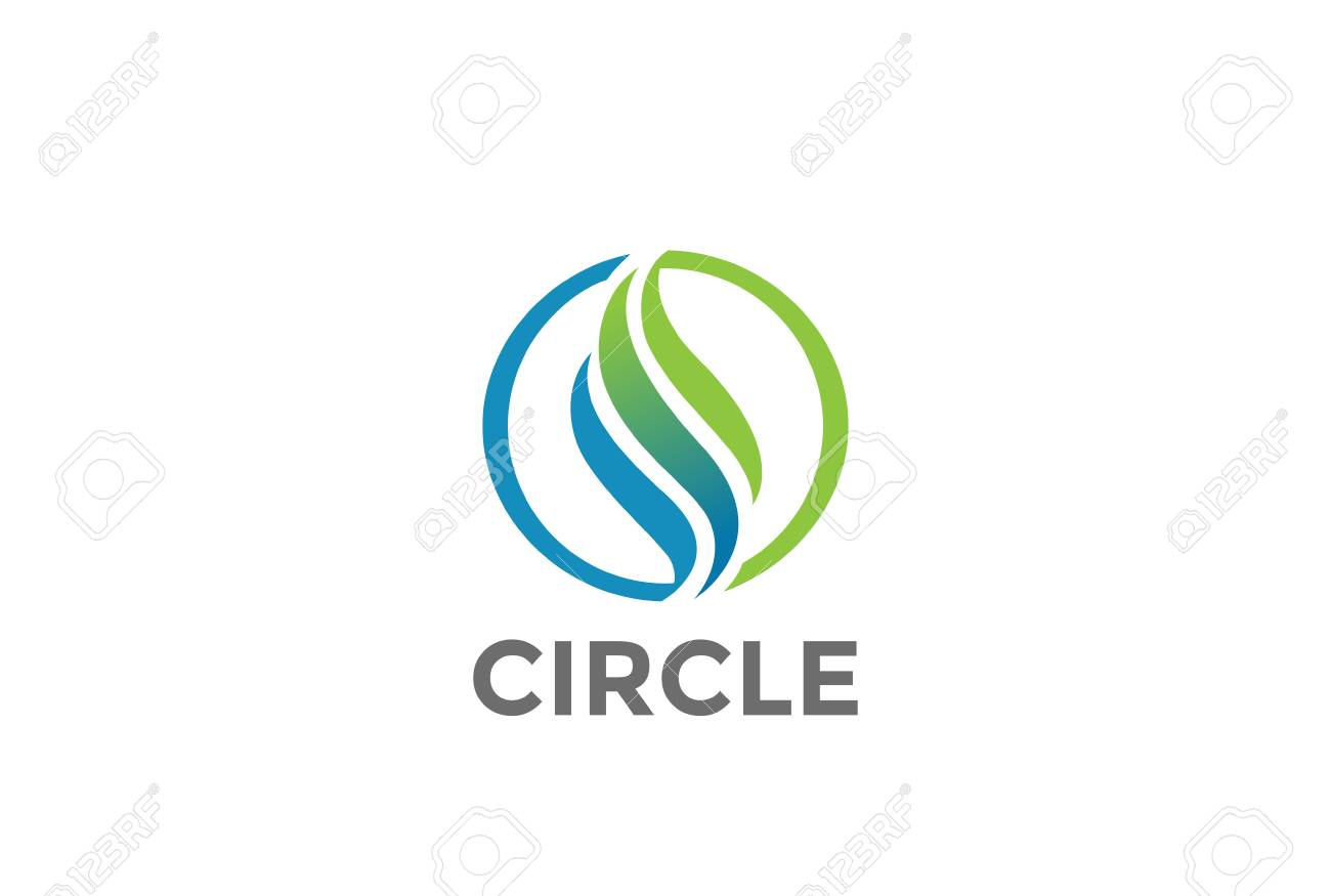 Wave Circle abstract Logo design vector template. Luxury wavy symbol Logotype concept icon - 86026346
