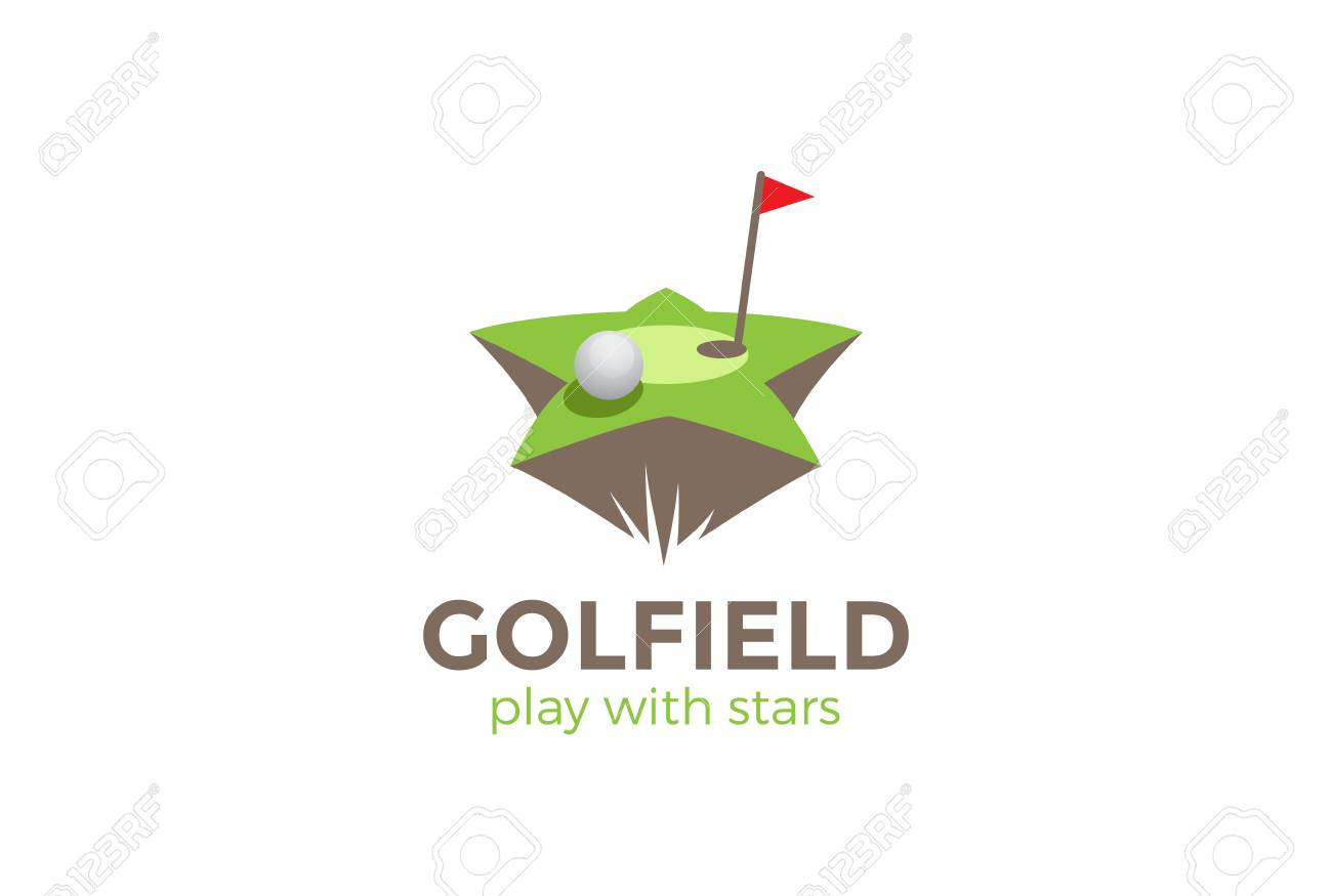 Golf Field Star Shape Logo Design Vector Template Golf Club Royalty Free Cliparts Vectors And Stock Illustration Image 85830175