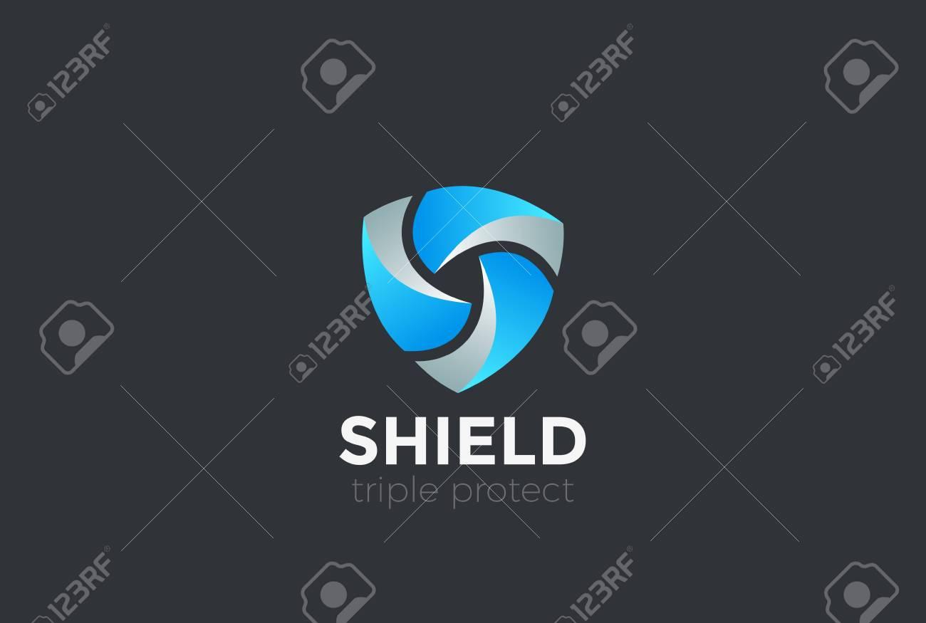 Shield Teamwork protect defense Logo design vector template - 95320505