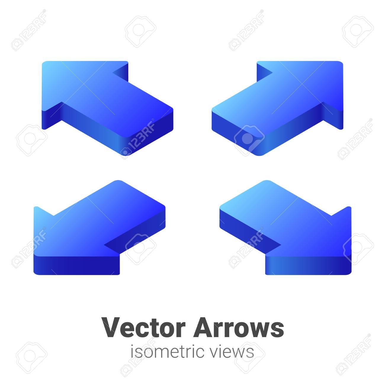 Isometric Arrows Vector set - 110209660
