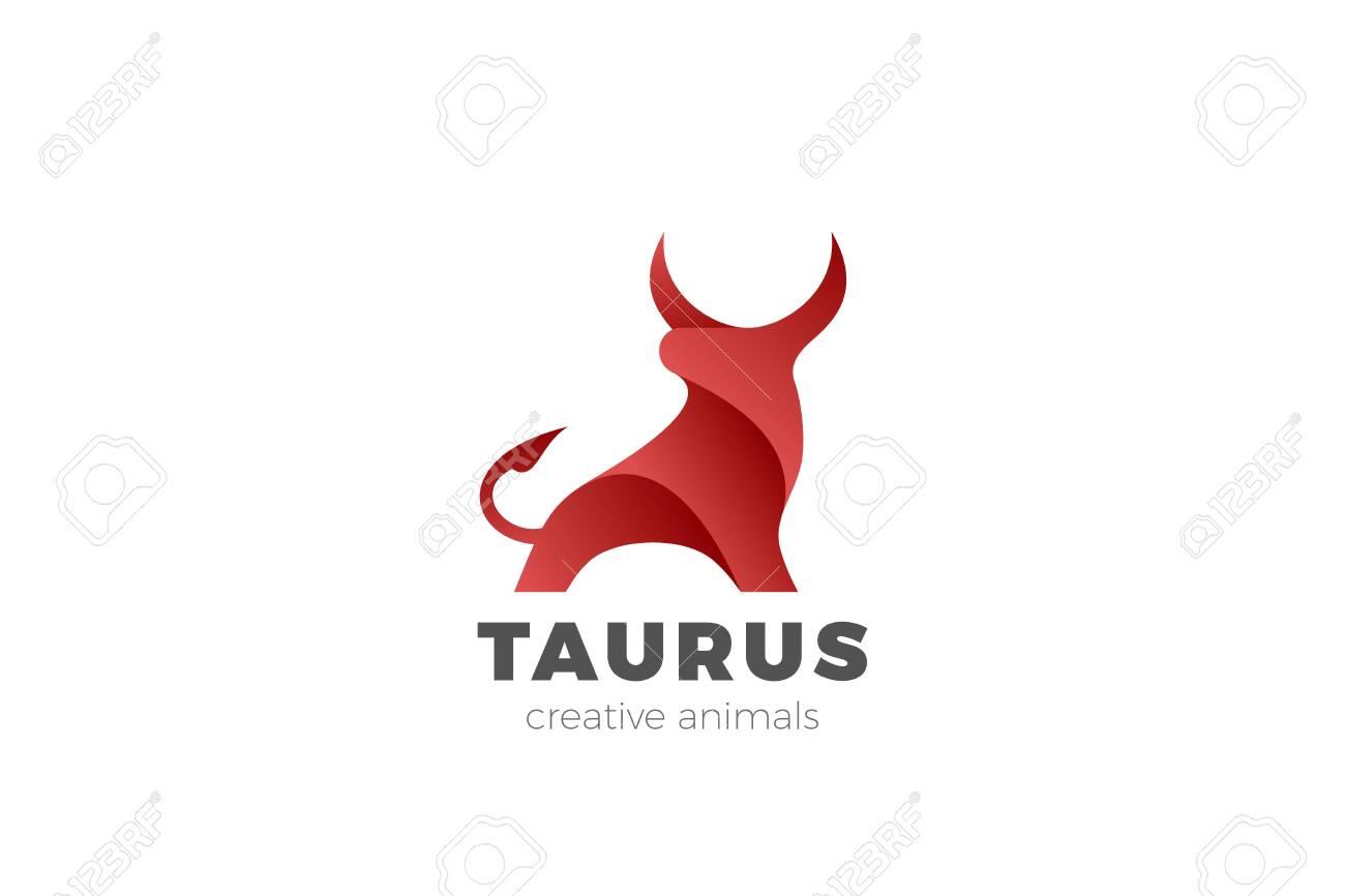 Bull Taurus Bison Buffalo Logo design vector template. Beef Meat Steak House Restaurant Logotype concept icon. - 129514404