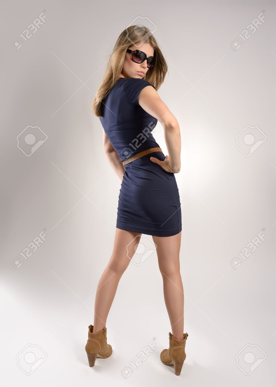 Shoot Of Fashion Girl In Sunglasses Dressed Stylishly Young