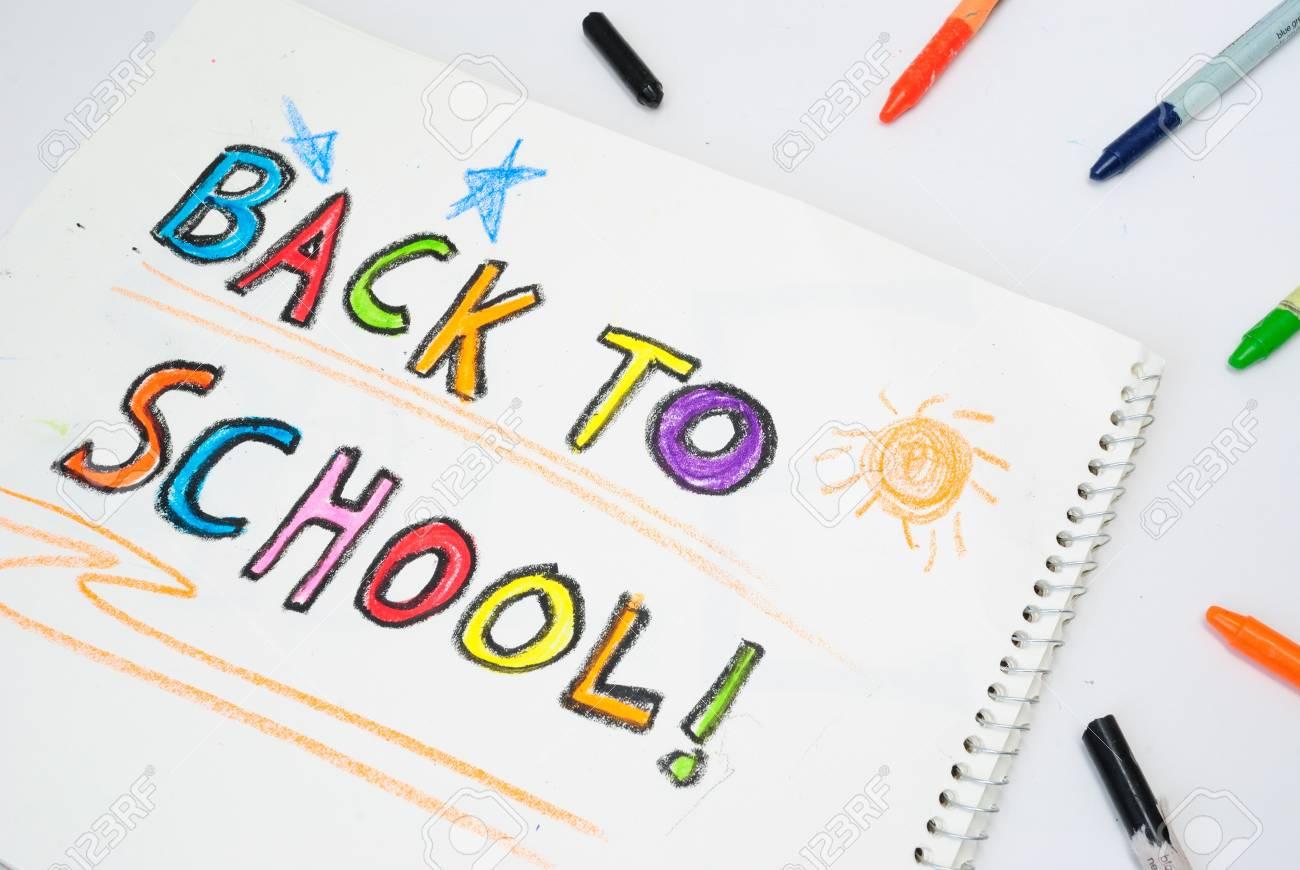 Zurück Zu Schule Wachsmalstift Lizenzfreie Fotos, Bilder Und Stock ...