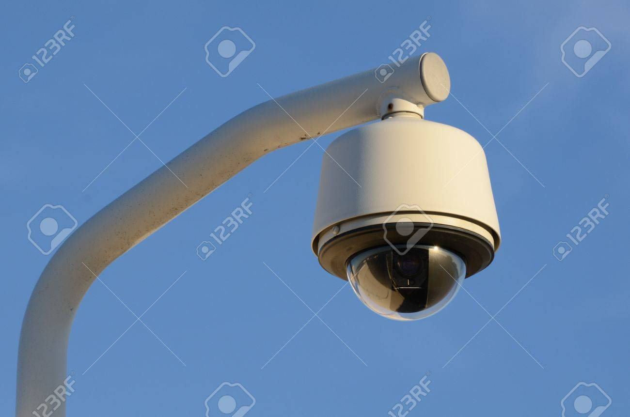A security camera in the sky Stock Photo - 9015598