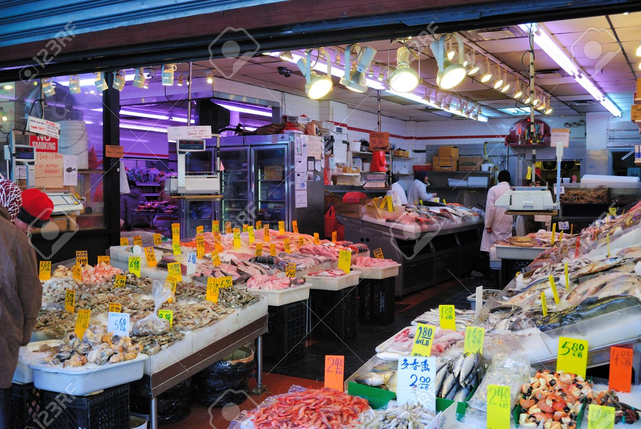 Inside A Fish Market In New York City S Chinatown February 11 Stock Photo Picture And Royalty Free Image Image 9020229