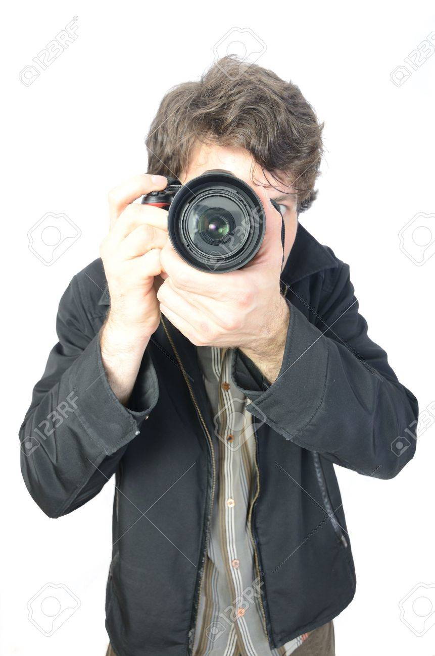 a photographer and his camera Stock Photo - 9232881
