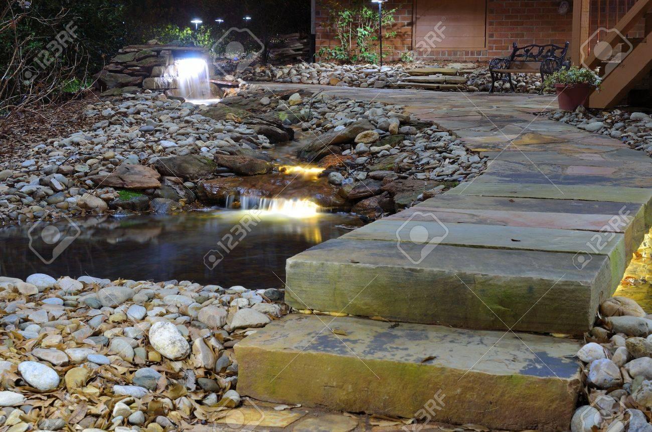 waterfall and rock stream Stock Photo - 9428616