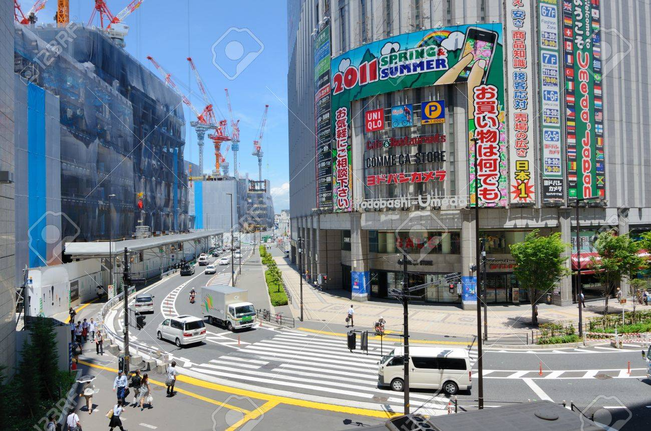 OSAKA, JAPAN - JULY 9: Yodobashi Camera is a consumer electronics chainstore with 21 locations in Japan on July 9, 2011 in Osaka, Japan. Stock Photo - 10067504