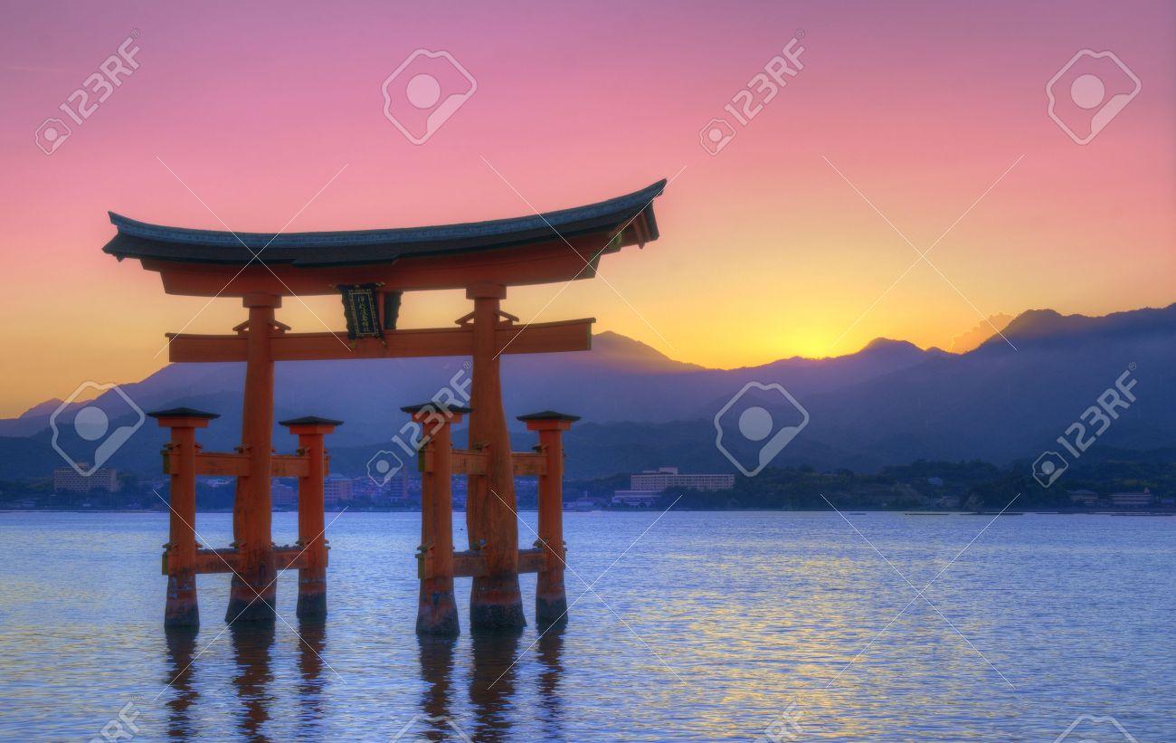 The Floating Otorii gate at Miyajima, Japan. Stock Photo - 10356697