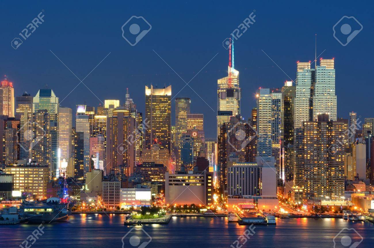 New York City skyline viewed from Weehawken, New Jersey. Stock Photo - 10545796