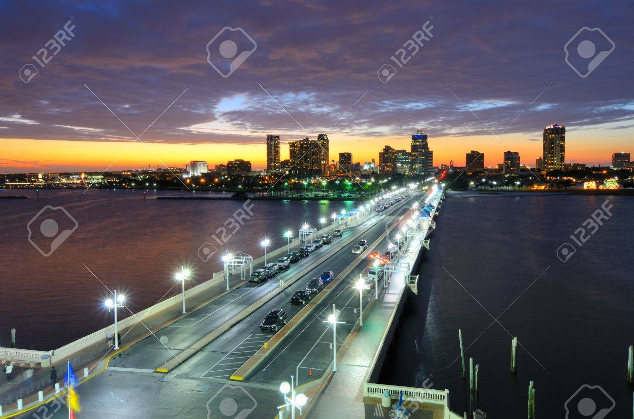 Skyline of St. Petersburg, Florida from the Pier. Stock Photo - 11890582