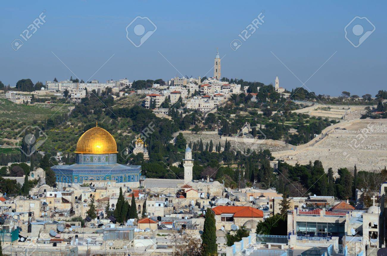 Landmarks Such As Dome Of The Rock In The Old City Of Jerusalem