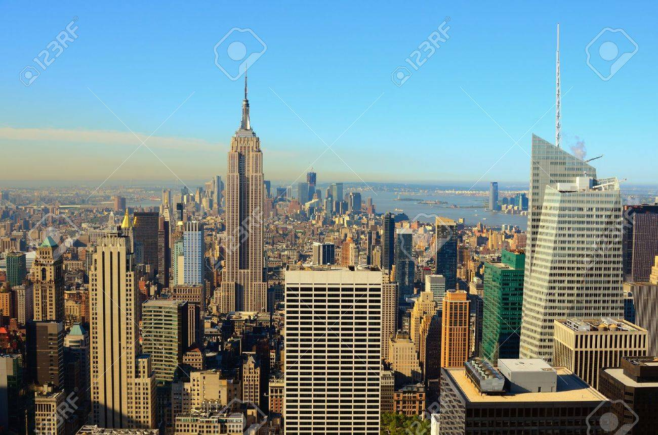 Landmark architecture in midtown Manhattan Stock Photo - 12760358