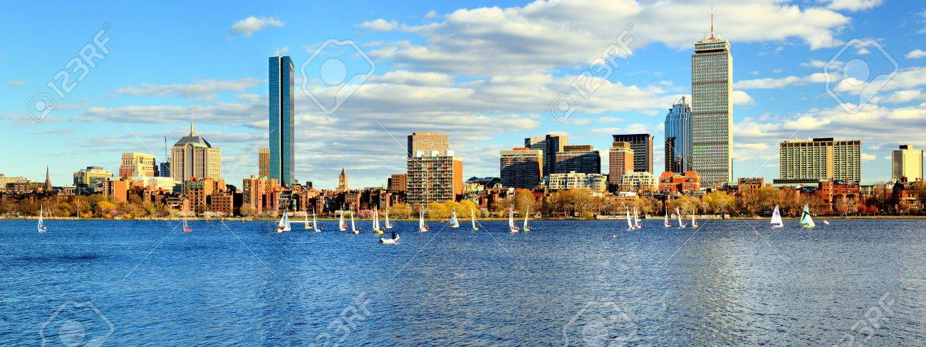 Skyline of Back Bay Boston, Massachusetts Stock Photo - 13159433