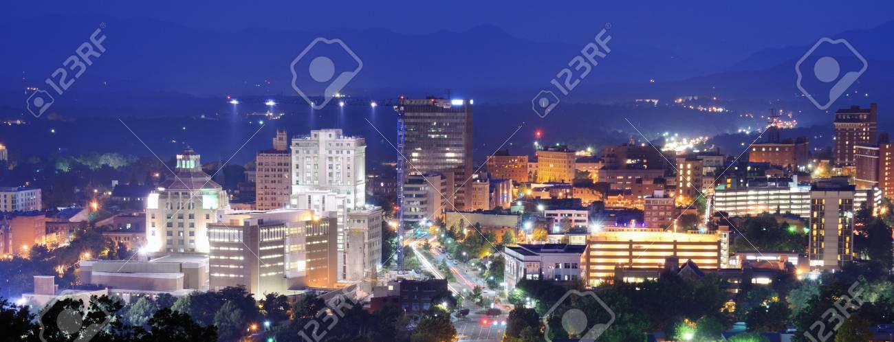 Asheville, North Carolina skyline nestled in the Blue Ridge Mountains Stock Photo - 14397598