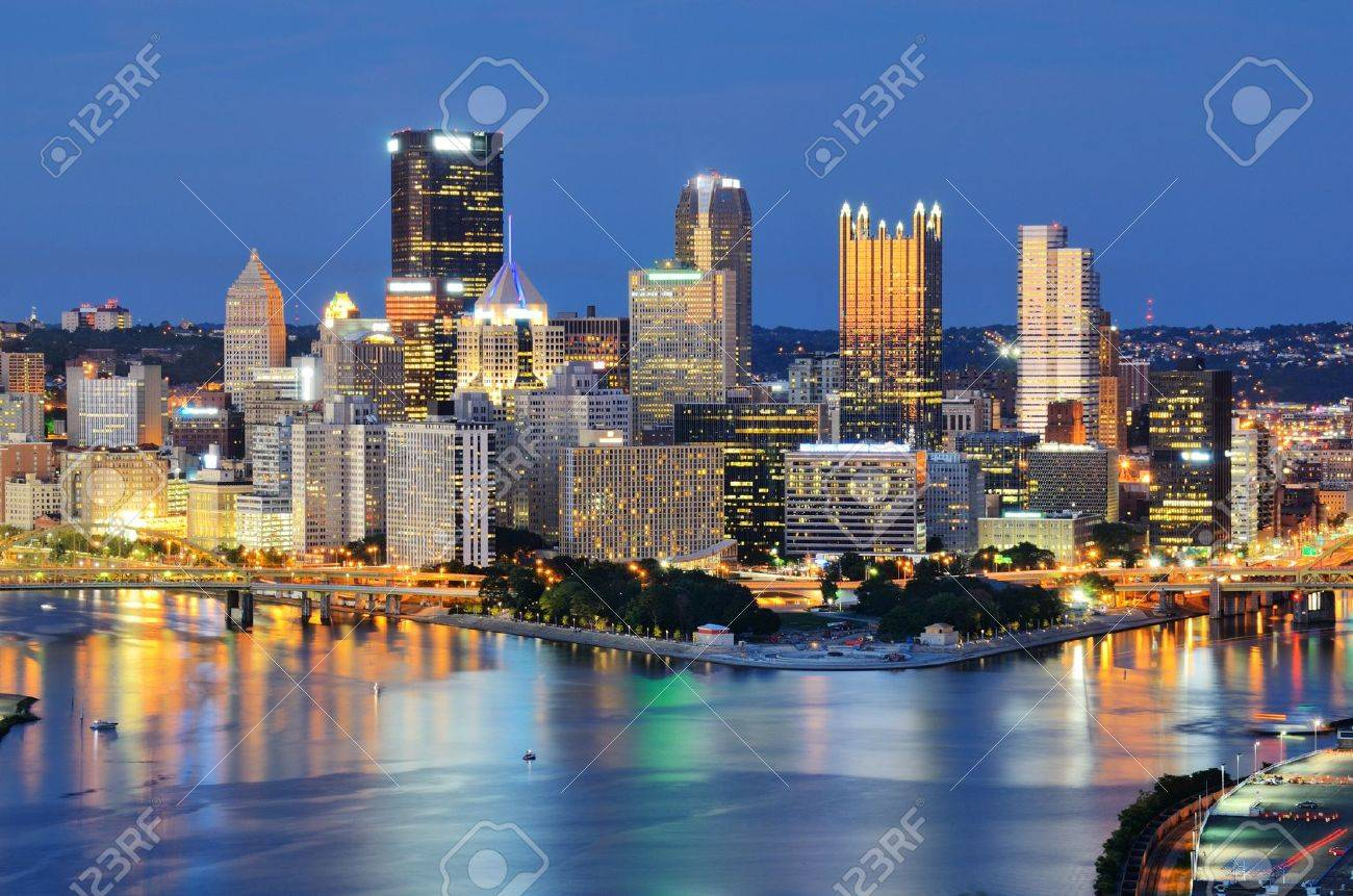 Skyscrapers in downtown PIttsburgh, Pennsylvania, USA Stock Photo - 14842435