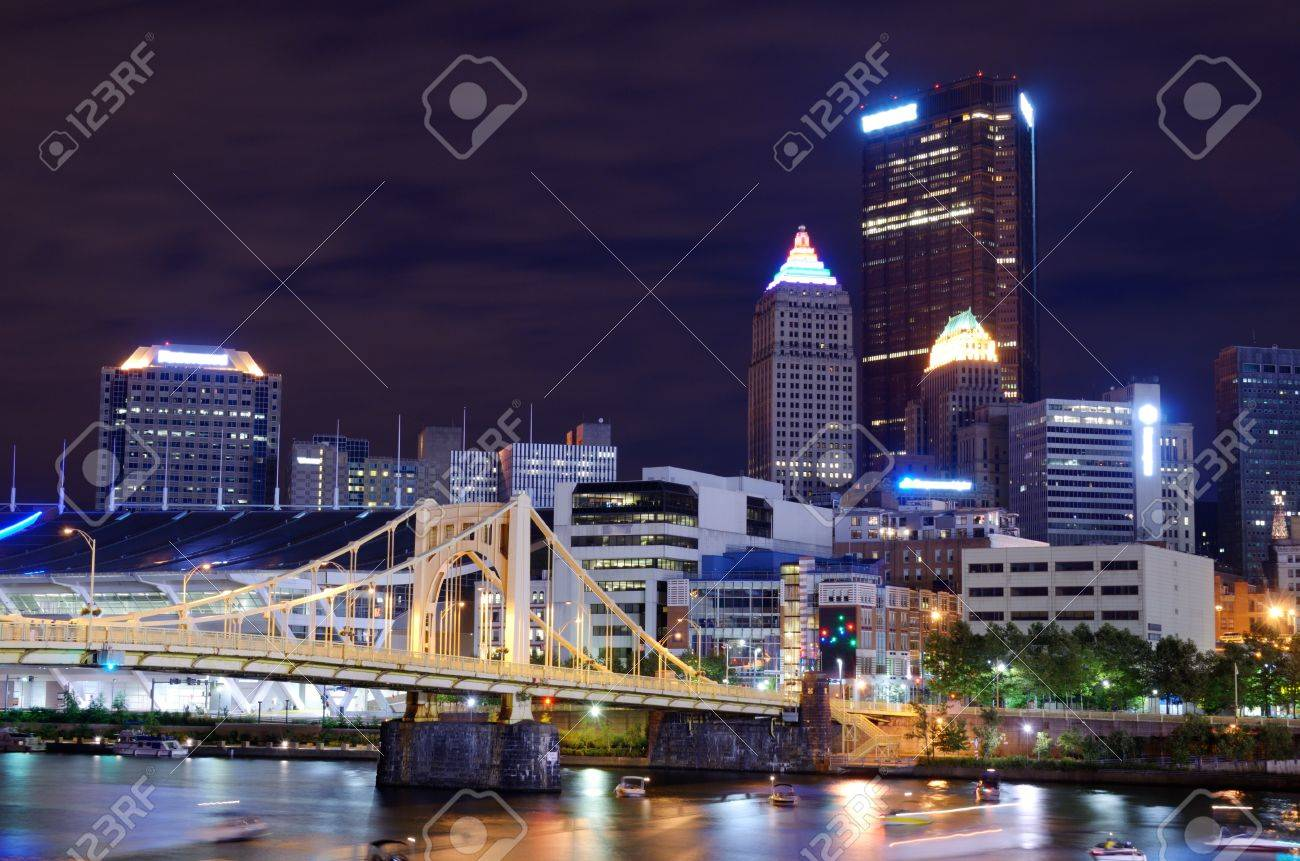 Skyscrapers in downtown PIttsburgh, Pennsylvania, USA. Stock Photo - 15095062