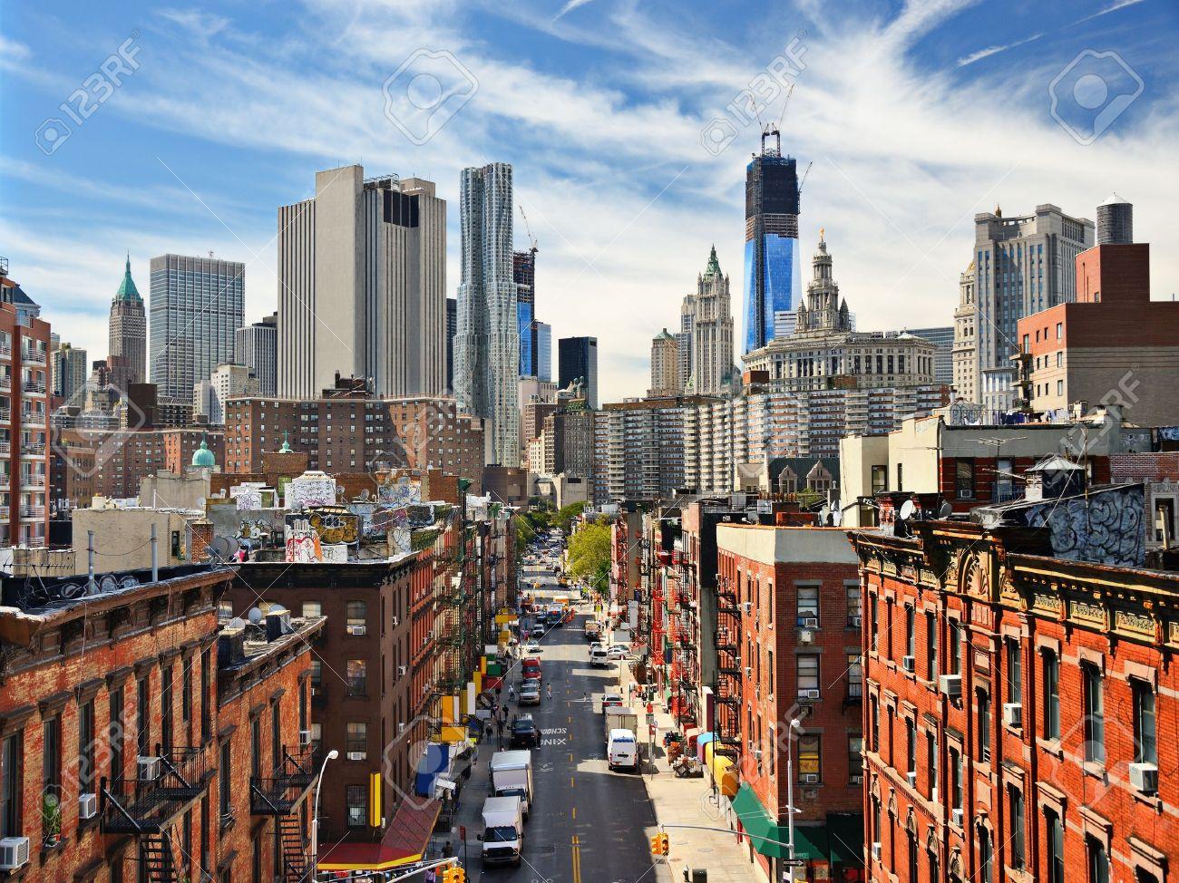 ニューヨークのロウアー ・ マンハッタンの街並み。 の写真素材・画像 ...