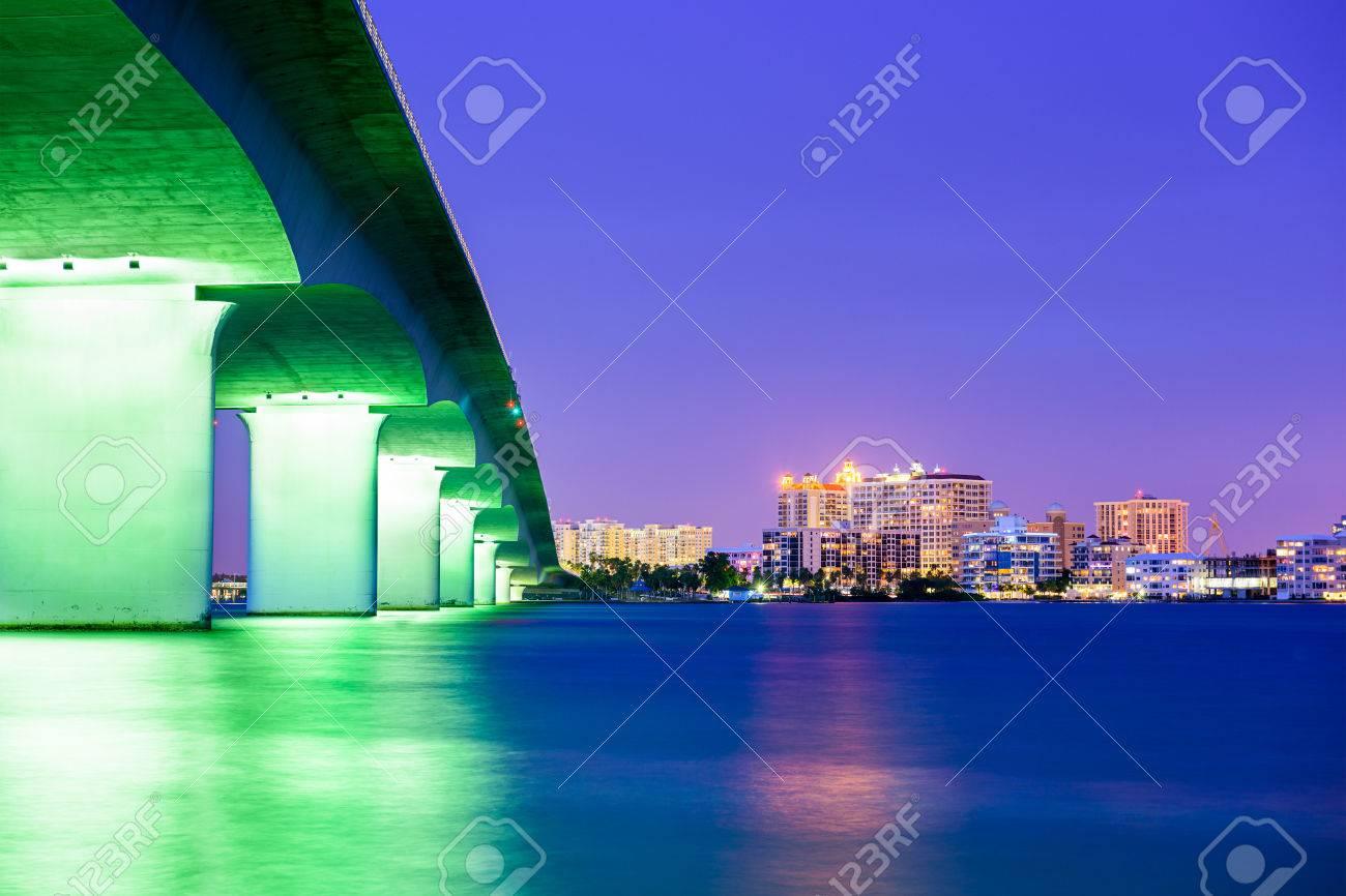Sarasota, Florida, USA downtown city skyline. - 35568564