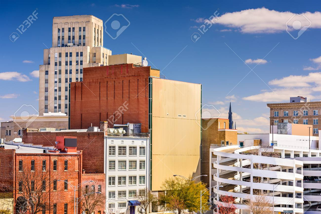 Durham North Carolina Usa Downtown Cityscape Stock Photo Picture