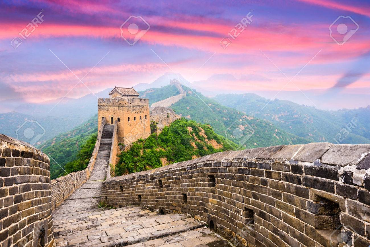 中国の壁グレート金山のセクショ...