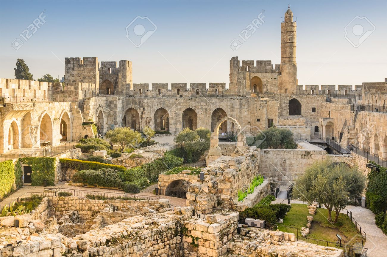 ダビデの塔エルサレム、イスラエ...