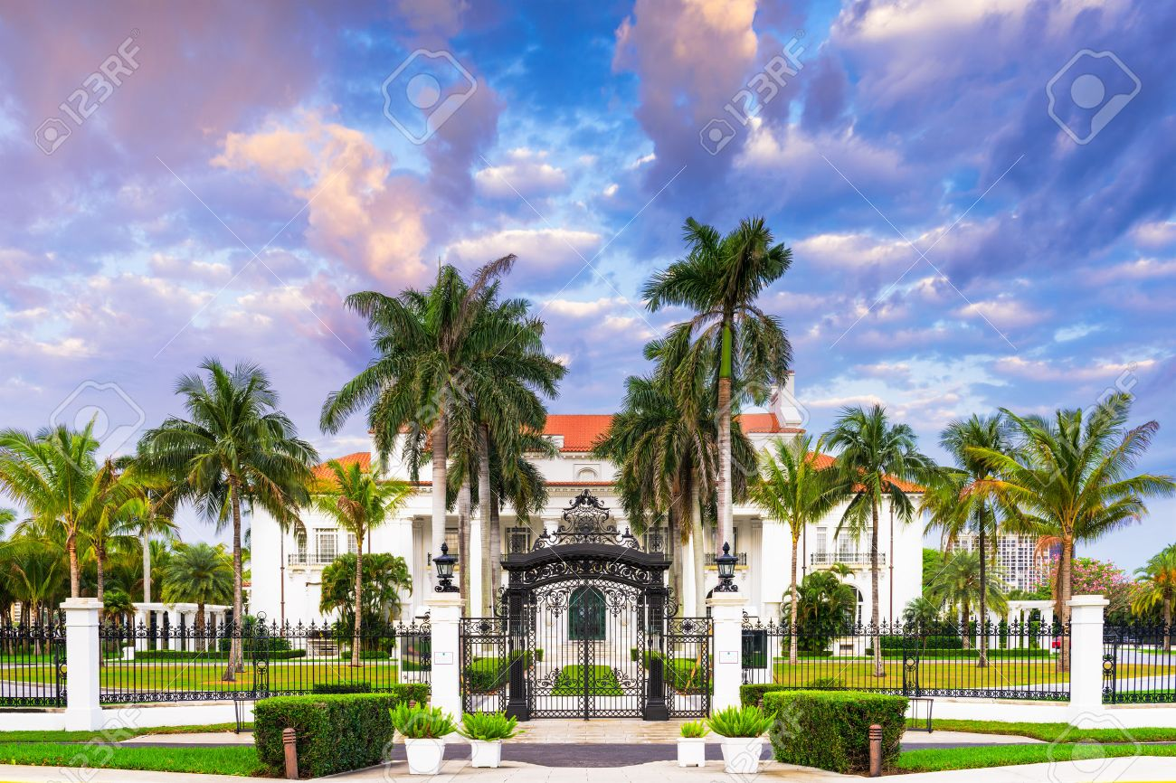 Stock photo west palm beach florida april 4 2016 the flagler museum exterior and grounds the beaux arts mansion was constructed for henry flaglers