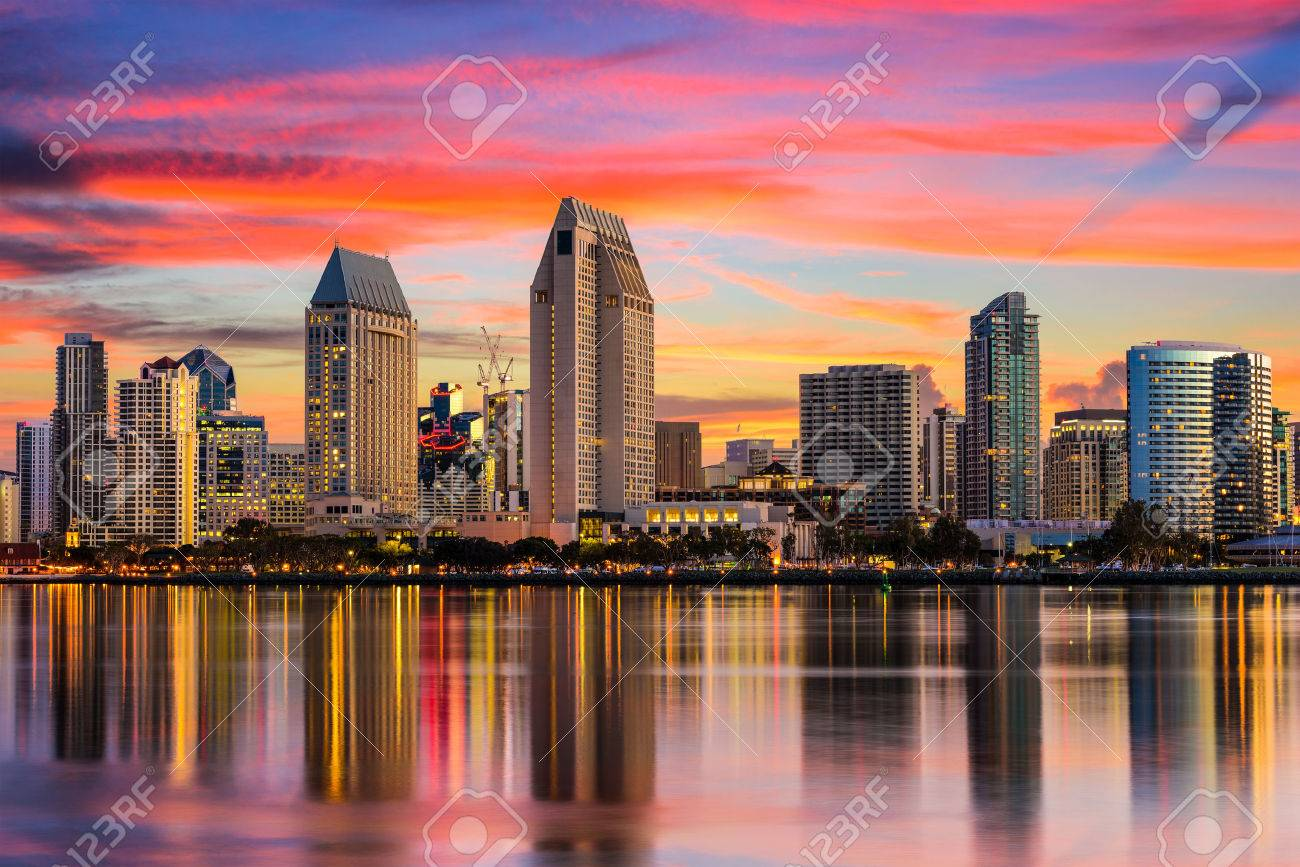 San Diego California Usa Downtown Skyline Stock Photo Picture And Royalty Free Image Image 62625228