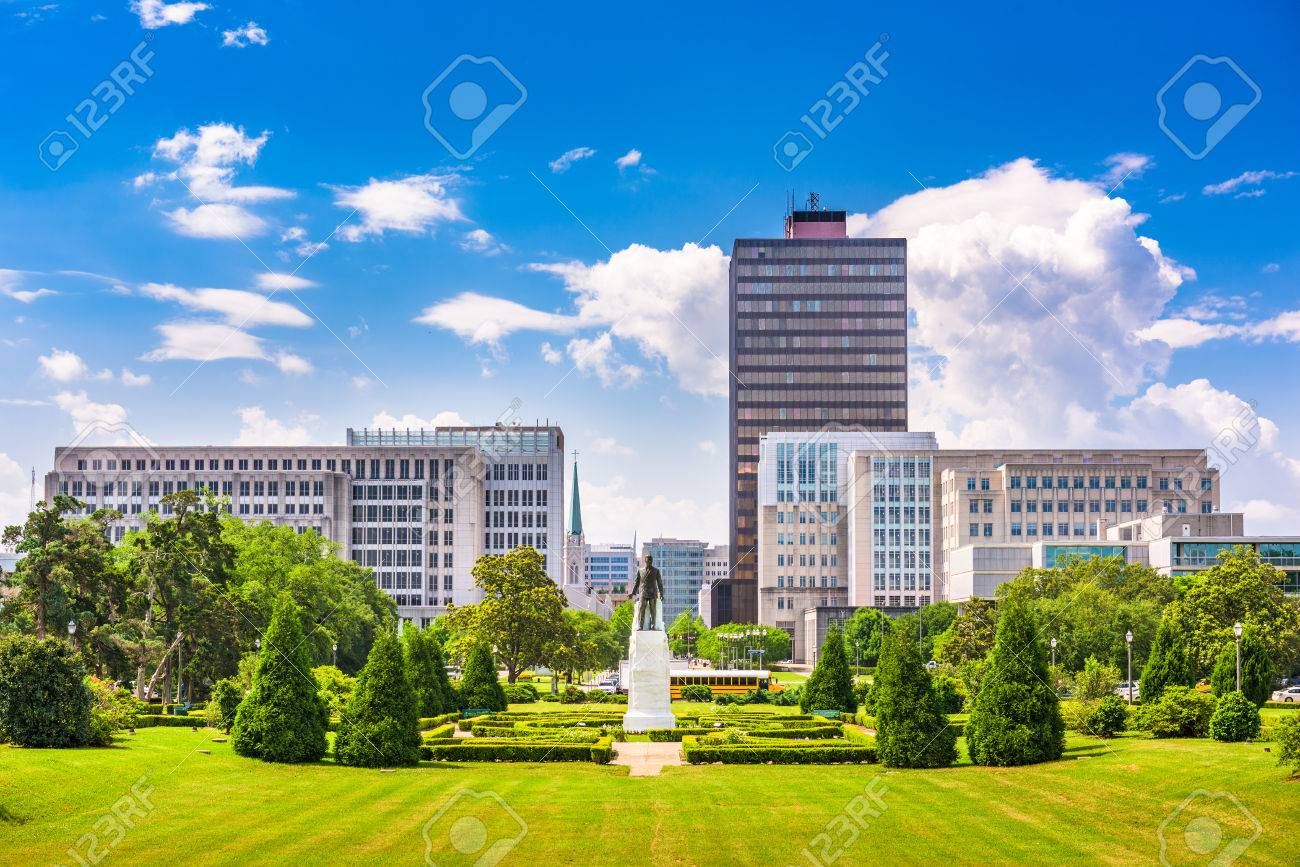 Baton Rouge, Louisiana, USA skyline from Louisiana State Capitol. - 67429918