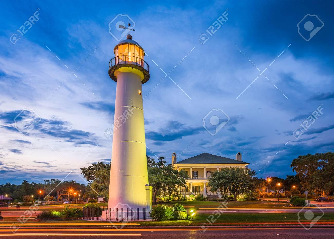 Biloxi Mississippi Usa At Biloxi Lighthouse Stock Photo Picture