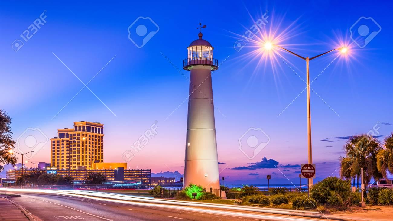Biloxi Mississippi Usa At Biloxi Lighthouse Stock Photo Picture And Royalty Free Image Image 96395779