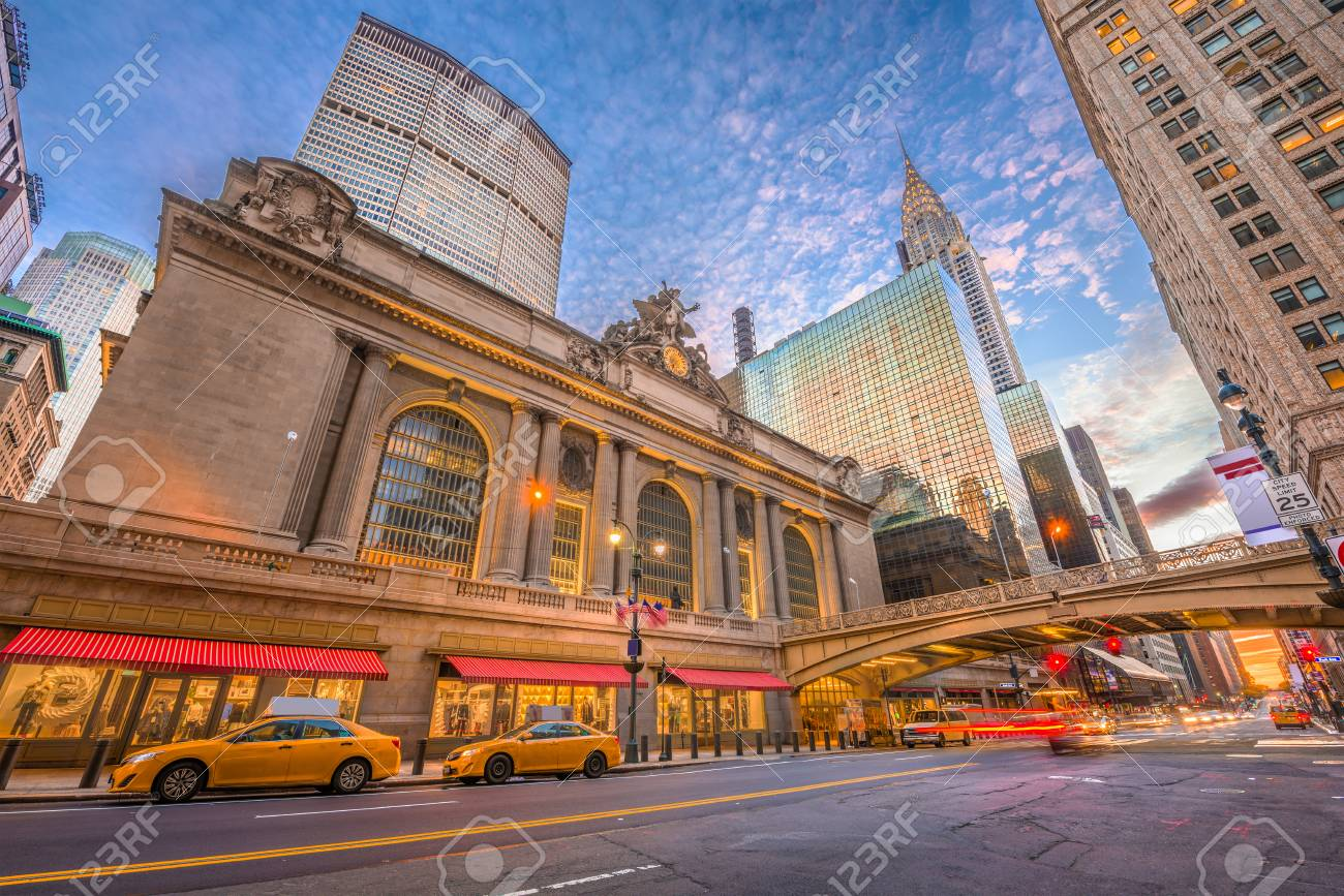 New York, New York, USA at Grand Central Terminal in Midtown Manhattan in the morning. - 102640334
