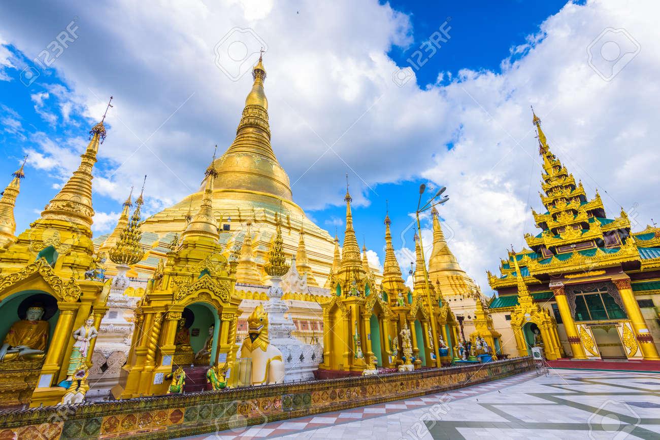 Shwedagon Pagoda in Yangon, Myanmar. - 146672692