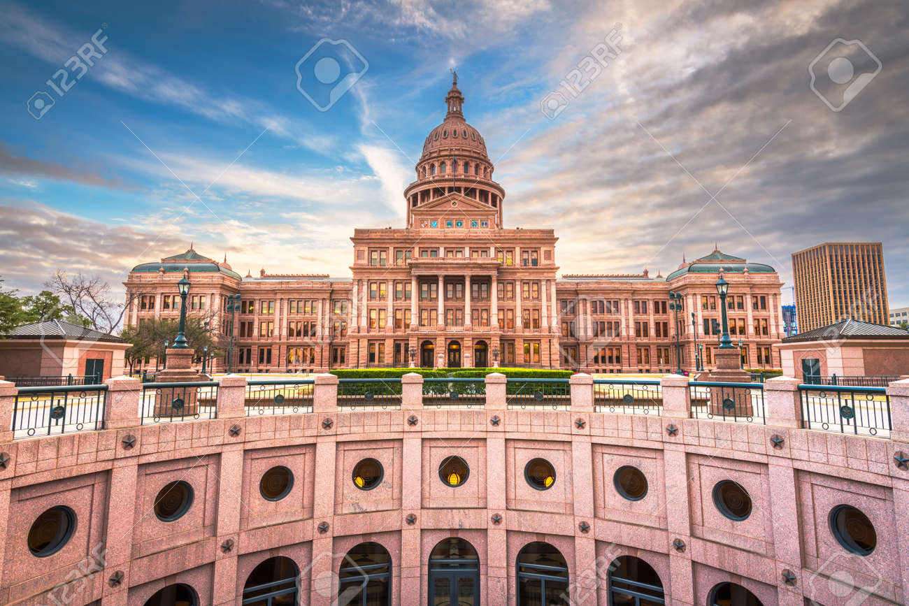 Austin, Texas, USA at the Texas State Capitol at dusk. - 159486916
