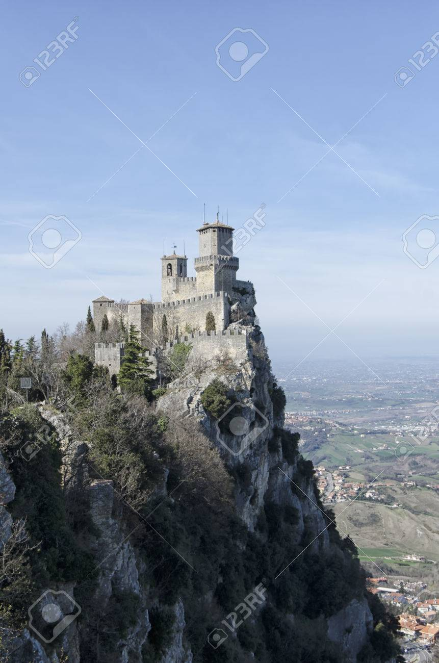 Breathtaking landscape and view of San Marino castle - 57062838