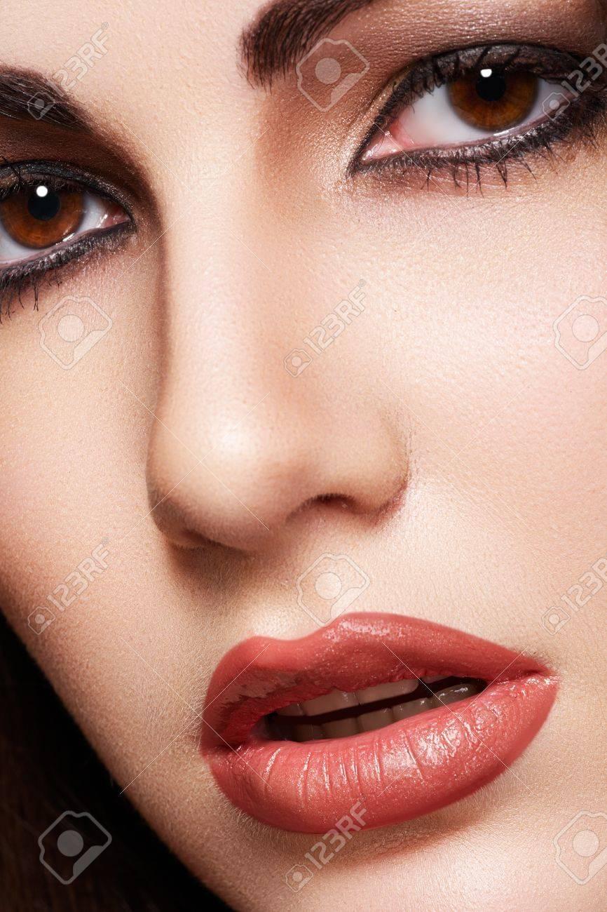 Close Up Portrait Of Sensual Arabic Woman Model Beautiful Clean
