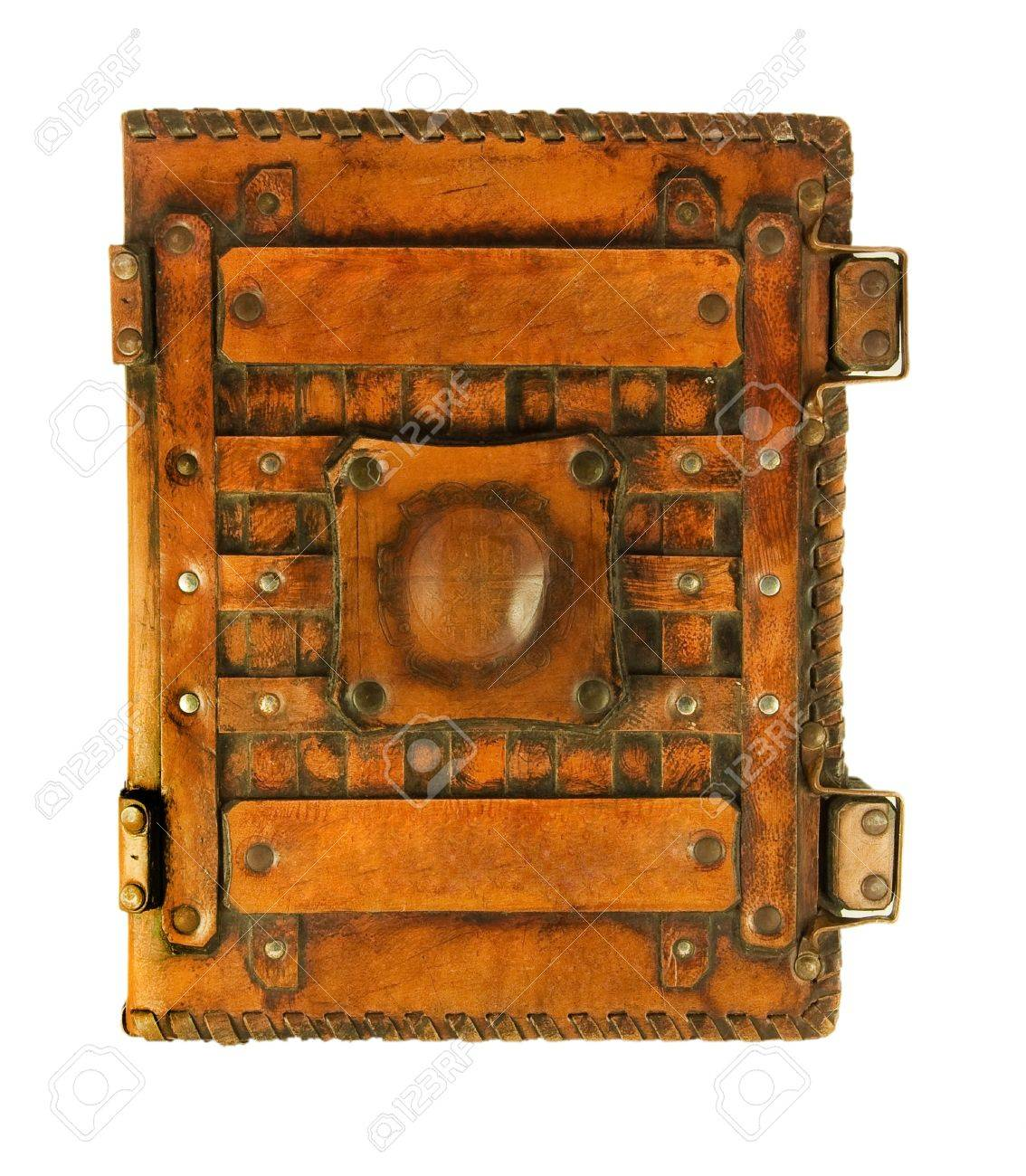 The ancient book in leather cover, a skin structure Stock Photo - 11662106