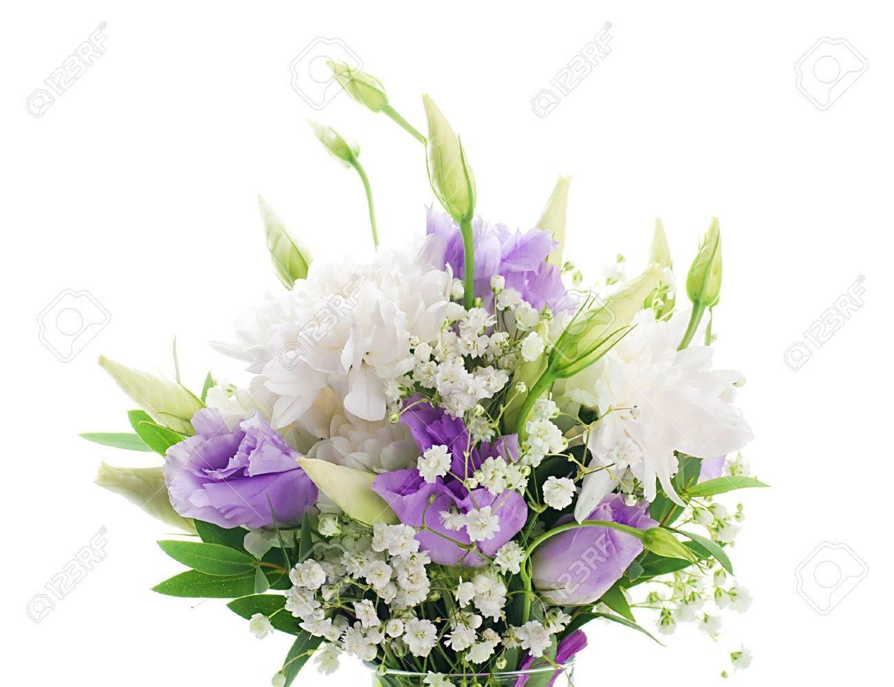 Préféré Bouquet De Mariée De Fleurs Blanches Et Roses Banque D'Images Et @JG_34