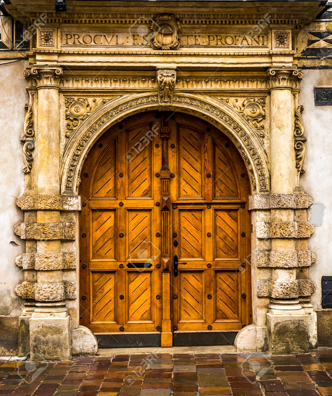 Architectural elements of the old European-style doors Stock Photo - 29308886 & Architectural Elements Of The Old European-style Doors Stock Photo ...
